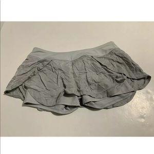 Athleta Flutter Skort Skirt Gray Athletic  Short